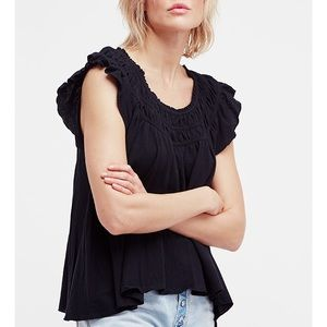 Free People Coconut Tee Black XS and SMALL